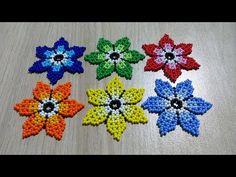 Beaded Flowers Patterns, Beaded Jewelry Patterns, Beading Patterns, Bracelet Patterns, Seed Bead Jewelry, Bead Jewellery, Seed Bead Earrings, Beaded Bracelets Tutorial, Earring Tutorial