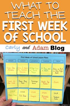The lessons you teach at the beginning of the year are crucial for laying the foundation and setting the tone for the rest of the school year During the first week, your schedule should be a mix of teaching procedures and expectations as well as b - f 1st Day Of School, Beginning Of The School Year, High School, School School, Back To School Ideas For Teachers, Back To School Teacher, New Teachers, Primary School, Teaching Procedures
