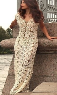 Crochet ribbons dress