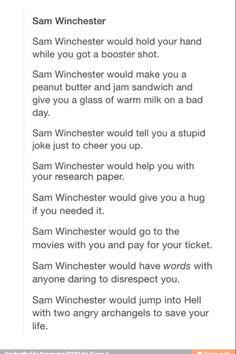 Dean winchester dating website