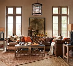 Chesterfield Leather 4-Piece Grand Sectional