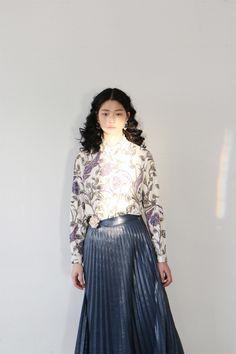Silky Pleated Midi Skirt