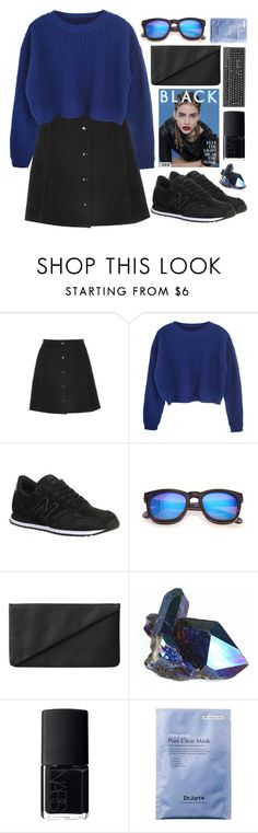 """Electric blue"" by brigi-bodoki ❤ liked on Polyvore featuring Topshop, New Balance, Wildfox, Monki and NARS Cosmetics"