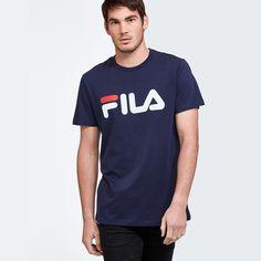 d1d15379 Fila unisex mens womens bold panel tee tshirt sportswear navy