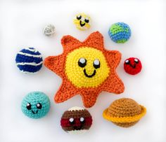 Solar System Play set// Solar System Mobile by thefadedwildflower, $25.00