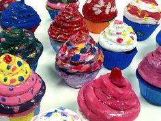 Clay Cupcakes (5th) - Art with Mrs. Nguyen