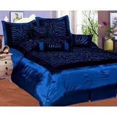 Royal Blue And Black Bedroom easy zebra room ideas | purple zebra bedroom furniture decor zebra