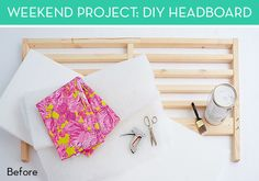 Ikea Hack: How to Make an Upholstered Headboard with an Ikea Bedframe