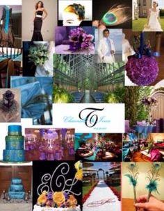 Purple and turquoise colour scheme idea