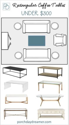 Understand when a round, square or rectangular table is best for your furniture layout. Plus budget-