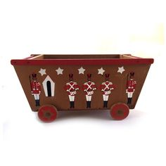1950s Wooden Toy Box Chest with Toy Soldiers ($150) ❤ liked on Polyvore featuring home, home decor, small item storage, wooden signs, wooden book box, wooden toy box, book boxes and 1950s sign