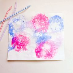 Pop There It Is: A Summer Bubble Paint Project