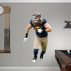 Clay Matthews Throwback REAL.BIG. Fathead – Peel & Stick Wall Graphic | Green Bay Packers Wall Decal | Sports Home Decor | Football Bedroom/Man Cave/Nursery