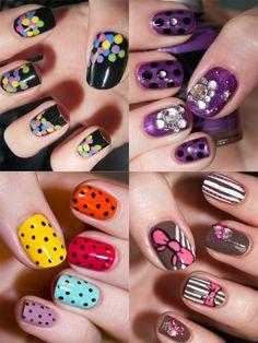 Summer polka dot nails 2012