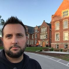 Ghost Adventures: Billy Tolley outside Odd Fellows Asylum.