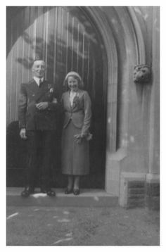 Charles and Gwen of UK, in smart formal day suits of the era who married in 1937.