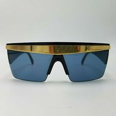 38d2e83122f5 GIANNI VERSACE Sunglasses Mod.676 Col.852 UPDATE Vintage 80s Black Lady Gaga  #