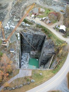 icu ~ The Quarry from above! in 2019 ~ Nov 2019 - This Pin was discovered by Vermont Verde Antique.
