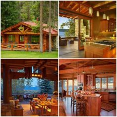 Ma △ Rocco's Cottage lovers images from the web Cabin Style Homes, Log Cabin Homes, Cottage Homes, Cabin Design, House Design, Modern Bungalow House, Log Home Living, Lakeside Cabin, Timber House