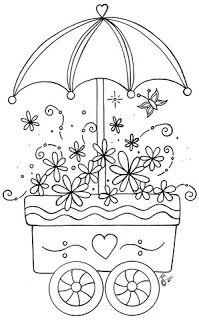 Flower cart pattern. My Little Art Blog...