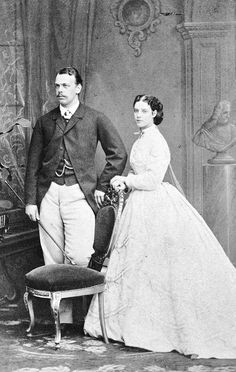 Tsarevich Alexander Alexandrovich of Russia and Princess Dagmar of Denmark. Engagement photograph.