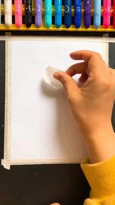 Crayon Painting, Canvas Painting Tutorials, Crayon Art, Oil Pastel Drawings Easy, Oil Pastel Art, Easy Canvas Art, Small Canvas Art, Art Drawings For Kids, Art Drawings Sketches Simple