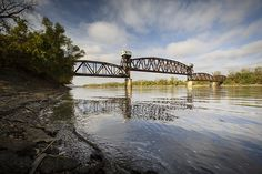 The Katy Bridge over the Missouri River in Boonville in Cooper County Missouri by Notley Hawkins Photography. Taken with a Canon EOS 5D Mark IV camera with a Canon EF16-35mm f/4L IS USM lens at ƒ/8.0 with a 1/320 second exposure at ISO 400. Processed with Adobe Lightroom 6.4.  http://www.notleyhawkins.com/