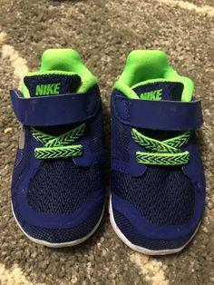 Toddler Boys Nike Shoes. Size 4C. Blue neon green  fashion  clothing 9a139db5b