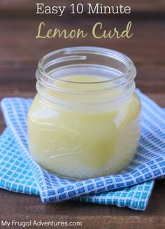 Easy Homemade Lemon Curd Recipe- so fresh and vibrant and this comes together in just 10 minutes!
