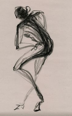 gesture drawing # conte