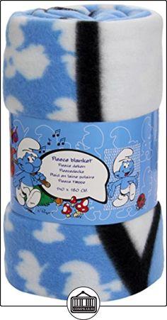 Los Pitufos - Manta polar, 140 x 180 cm, color azul (United Labels 808423)  ✿ Regalos para recién nacidos - Bebes ✿ ▬► Ver oferta: http://comprar.io/goto/B006HSMZVQ