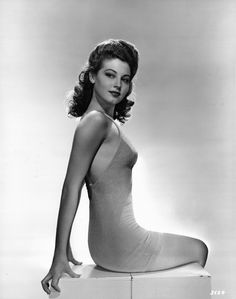 "1941. This photo is reproduced in Ava: My Story, Ava's autobiography, in which she describes it as ""One of my very first pinup photos"". A caption on the back of the photo reads: PRESENTING AVA GARDNER…Young Metro-Goldwyn-Mayer actress who was snatched from the John Powers Agency, where she was having considerable success as a model, …"