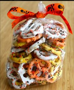 Candy corn prezels  :)