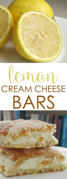 Need an easy cream cheese dessert idea? These Lemon Cream Cheese Bars are easy to bake and delicious!