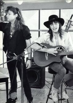 Jon Bon Jovi & Richie Sambora.  This is for the Piller Fam.  Although my fav is wanted dead or alive.