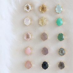 ✨Restocked✨Our number 1 selling gemstone mini HONOUR studs have had a major restock! This is the same style that was featured in last Falls… Studs, Stud Earrings, Number, Gemstones, Mini, Jewelry, Jewlery, Gems, Jewerly