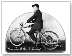 Never Hire A Bike In Thailand - Postcard. #travel #postcard #humor #humour