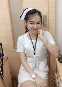 Cute Asian Girls, Vintage Nurse, Sexy Nurse, Striped Bikini, Beautiful Asian Women, Asian Woman, Asian Beauty, Lady