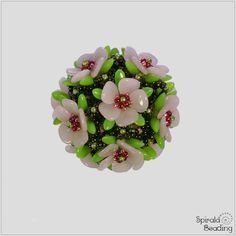 Spirala beading: beaded bead