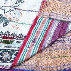 Discover Home, Art, Men's, Women's & Tech Accessories Textile Patterns, Textile Design, Textiles, Kantha Quilt, Quilts, Textile Tapestry, Beach Blanket, Bed Design, Decoration