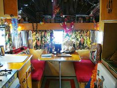 tiki trailer interior by ms.alleycat on flickr