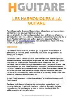 Conseils et Astuces pour guitaristes - Les harmoniques naturelles et artificielles à la guitare. HGuitare.com - cours de guitare en ligne.