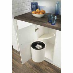 HAFELE Door Mounted Swing Out Kitchen Bin H:420mm, W:400mm. White - Mitre 10