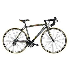 Lombardo Monza 20C Road Bike 700c Wheels Mens Bike AnthraciteYellow 99 Assembled 50 cm Frame *** Click image to review more details. (This is an affiliate link) #Bikes