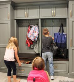 Avoid #shoe mountains cluttering and tripping up your entryways! Include #cubbies or drawers to stash shoes out of sight in your #mudroom design.   |   villagehomestores.com At Home Store, Other Rooms, Shoe Storage Mudroom, New Look, Kitchen Remodel, Drop Zone, Mud Rooms, Amazing Spaces, Cubbies