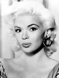 """Jayne Mansfield.  This """"blonde bombshell"""" who was tragically killed in an automobile accident .... reportedly hid the fact that she was extremely intelligent and well read."""