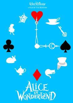 Alice in Wonderland Clock! I think I may have found my Alice in Wonderland tattoo!!!