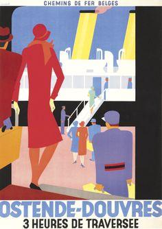 Leo Marfurt, Travel Poster, Belgium, ca. 1928