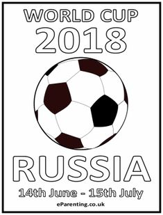World Cup 2018 Free Printable Colouring Picture #worldcup #worldcup2018 #football #soccer #coloringpages #printables #freeprintables