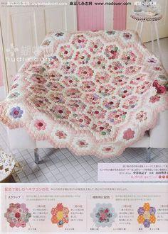 Hexagon pink quilt ♥